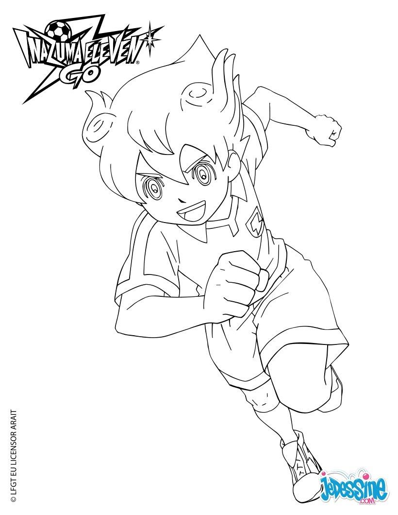 inazuma eleven go sketch coloring page
