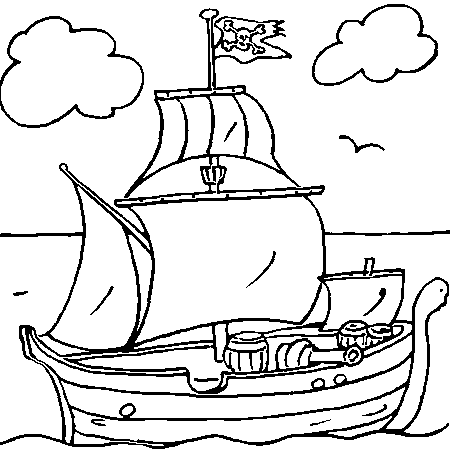 Dessin de pirate - Coloriage fille pirate ...