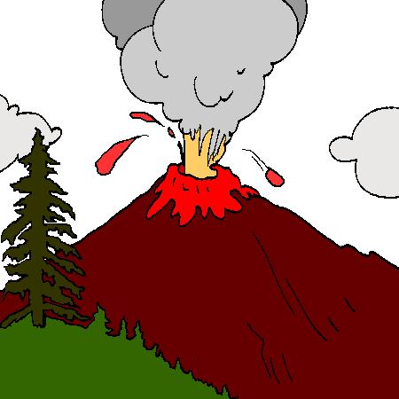 Dessin de volcan 2 - Volcan coloriage ...