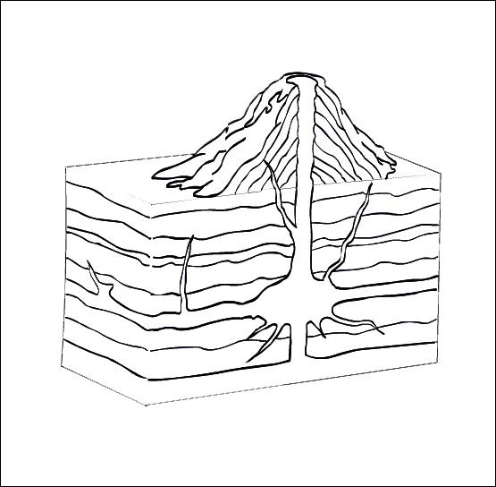 Dessin de volcan 9 - Volcan coloriage ...