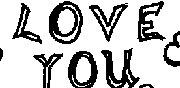 dessin de y love you
