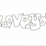 dessin de y love you