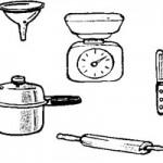 dessin d'ustensiles de cuisine