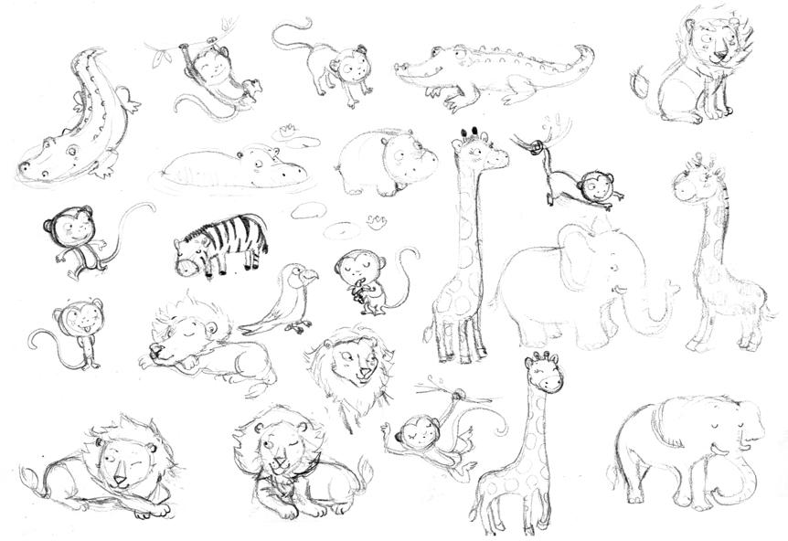Illustration animaux de la jungle 2 - Coloriage animaux jungle ...
