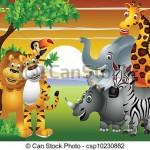 illustration animaux de la jungle