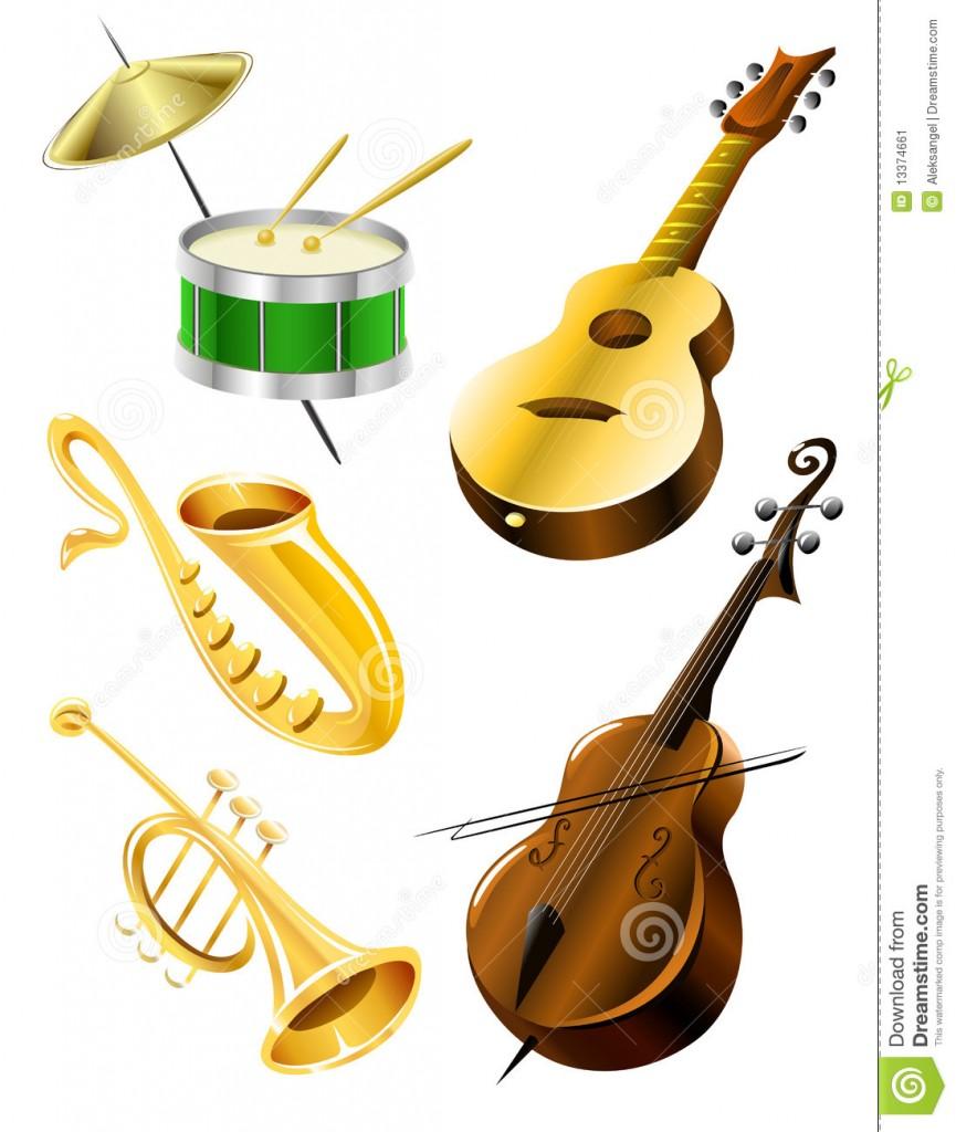 Illustration d 39 instruments de musique 2 - Image instrument de musique a colorier ...