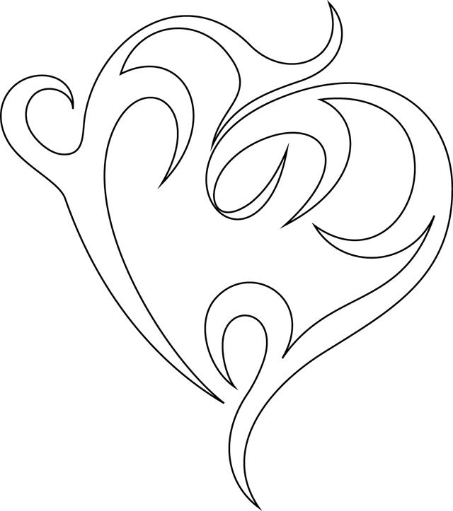 Dessin de coeur 9 - Image de coeur a colorier ...