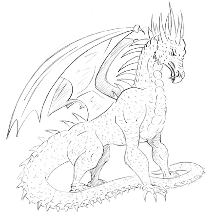 Dessin de dragon 5 - Dessin un dragon ...