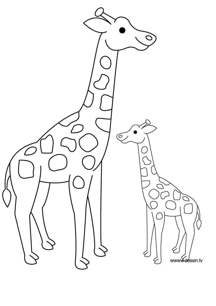 Dessin de girafe 9 - Animaux a dessiner imprimer ...