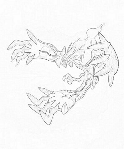 Dessin de yveltal 3 - Evolution pokemon legendaire ...