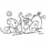 illustration de la chanson une souris verte