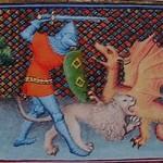 illustration de yvain le chevalier au lion