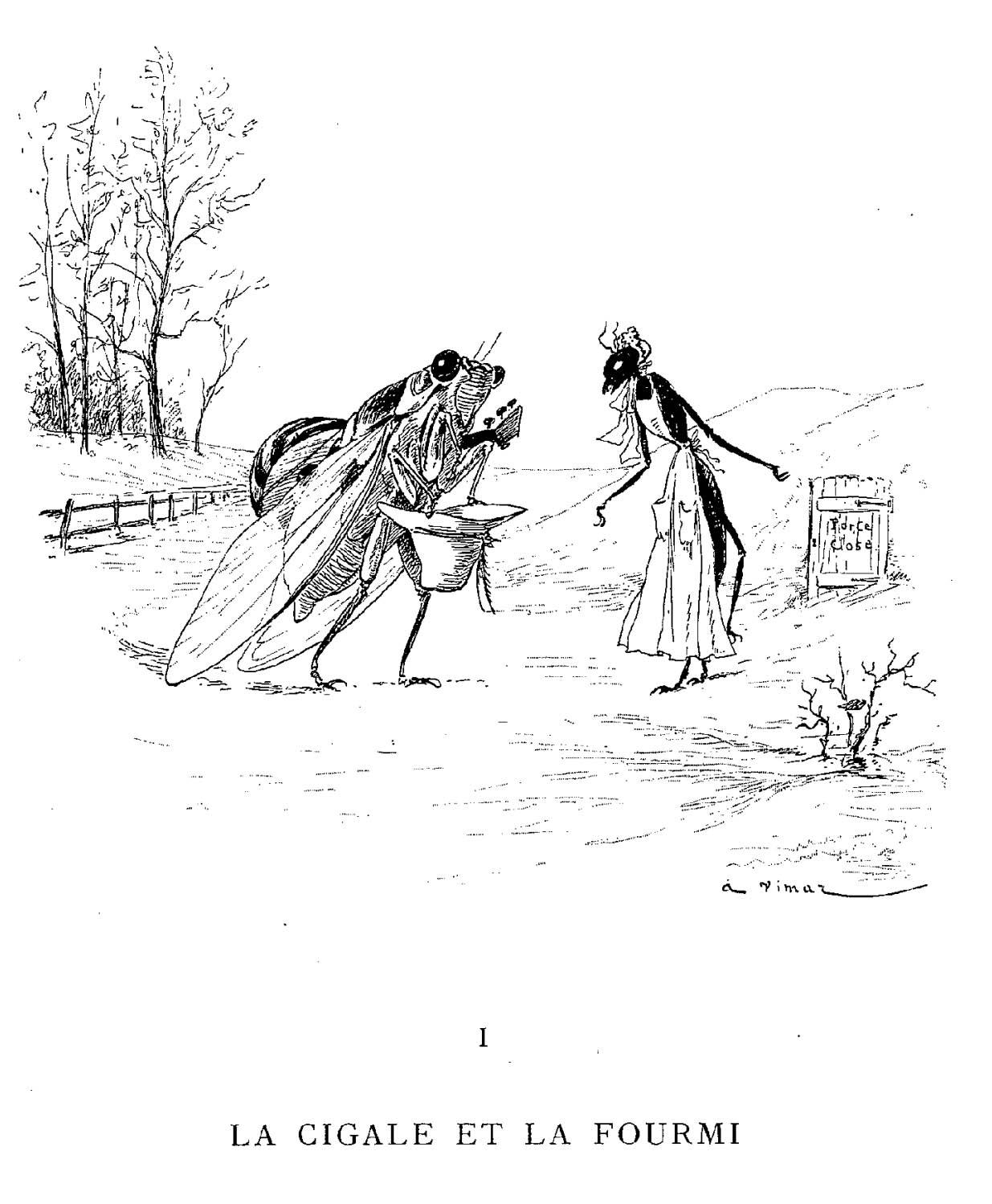 Dessin De La Cigale Et La Fourmi En Couleur