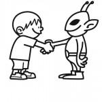 dessin de e.t l extraterrestre