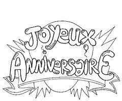 dessin de joyeux anniversaire