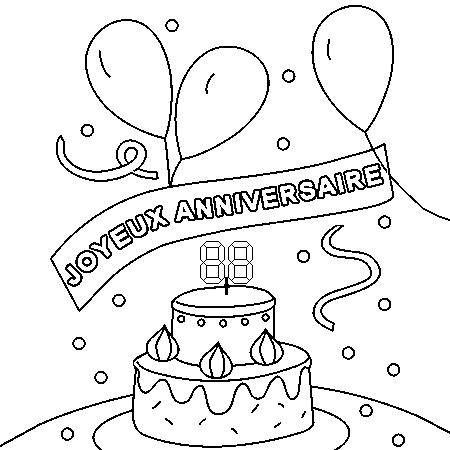 Dessin de joyeux anniversaire - Dessin gateau anniversaire 50 ans ...