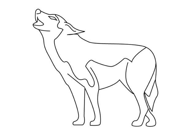 Dessin de loup 8 - Coloriage de loup ...