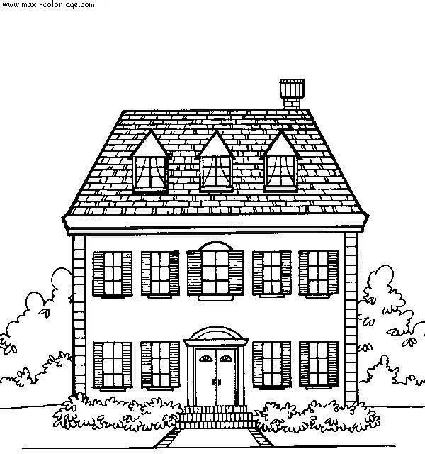dessin de maison