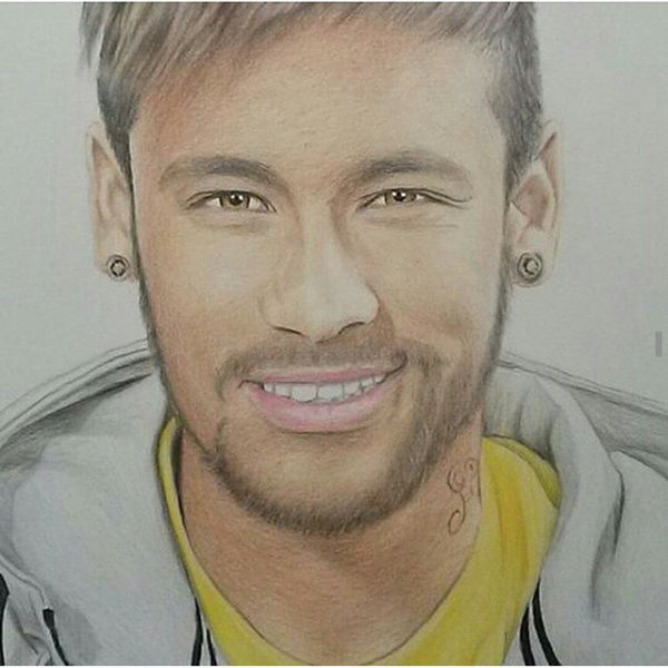 Coloriage Foot A Imprimer Neymar.Dessin Facile Neymar