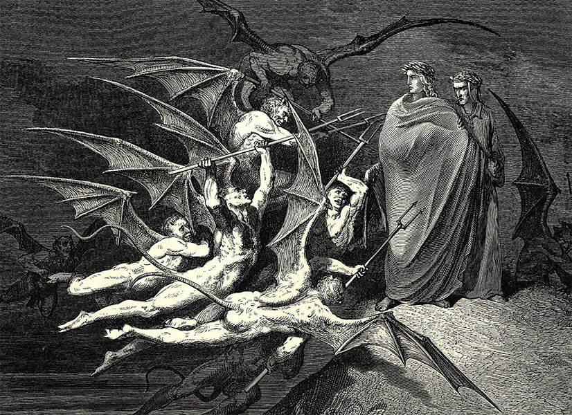 illustration enfer de dante