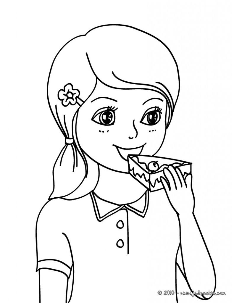 Dessin De Fille 5 Fille Habill En Rose Bonbon Kawaii Votre