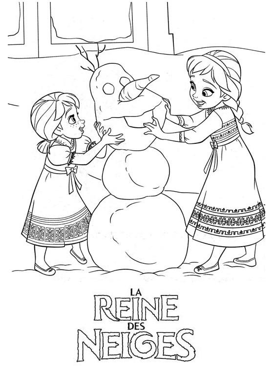 Dessin de elsa et anna 9 - Reine des neige a imprimer ...