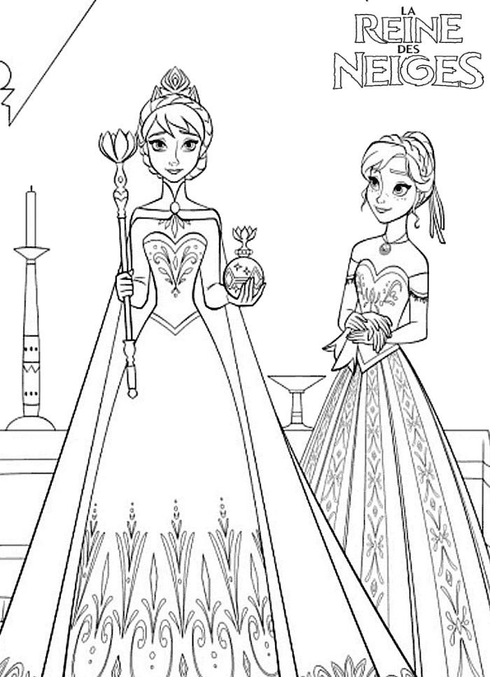 dessin de elsa et anna - Dessin Elsa