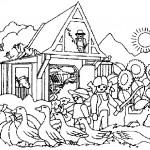 dessin de ferme