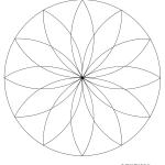 dessin de rosace