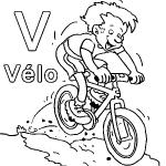 dessin de v