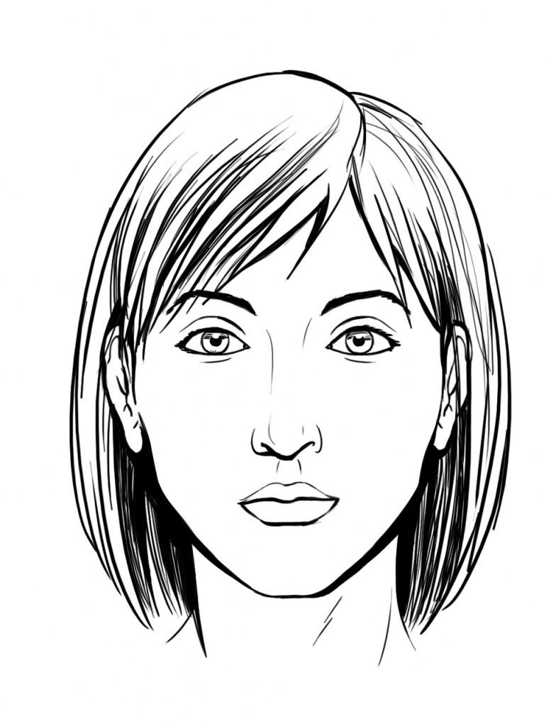 Dessin de visage 3 - Image a dessiner ...