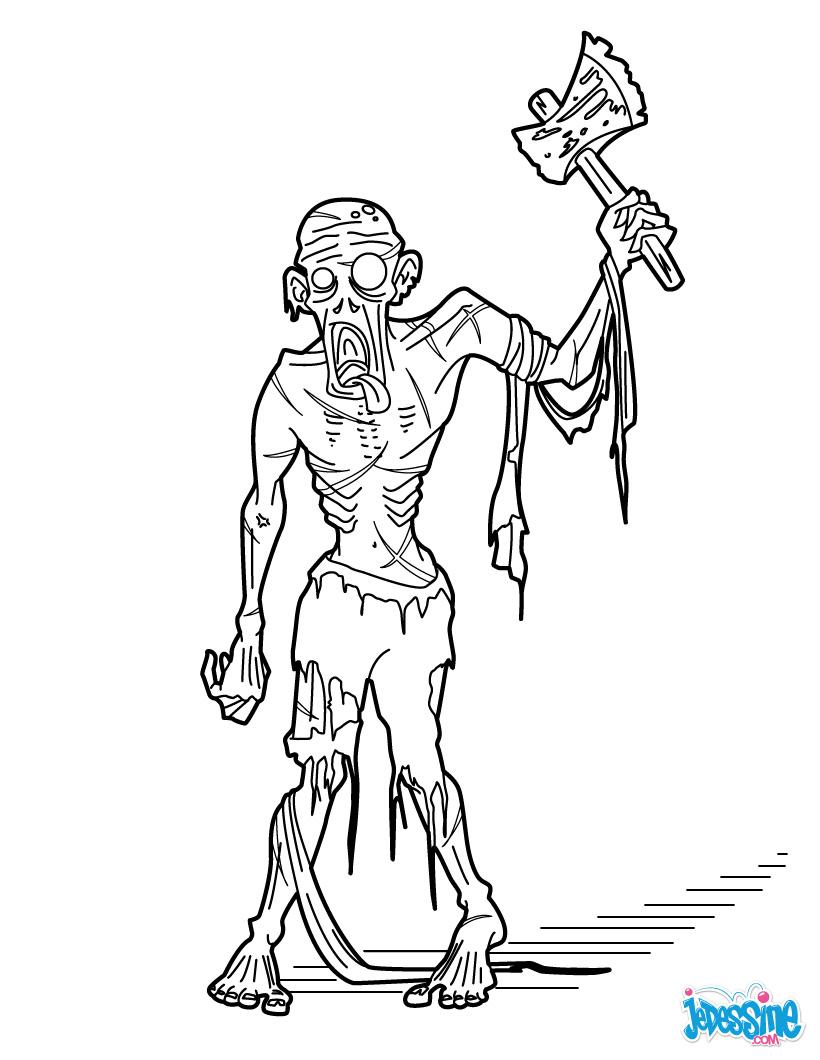 Dessin de zombie 7 - Dessin monstre halloween ...