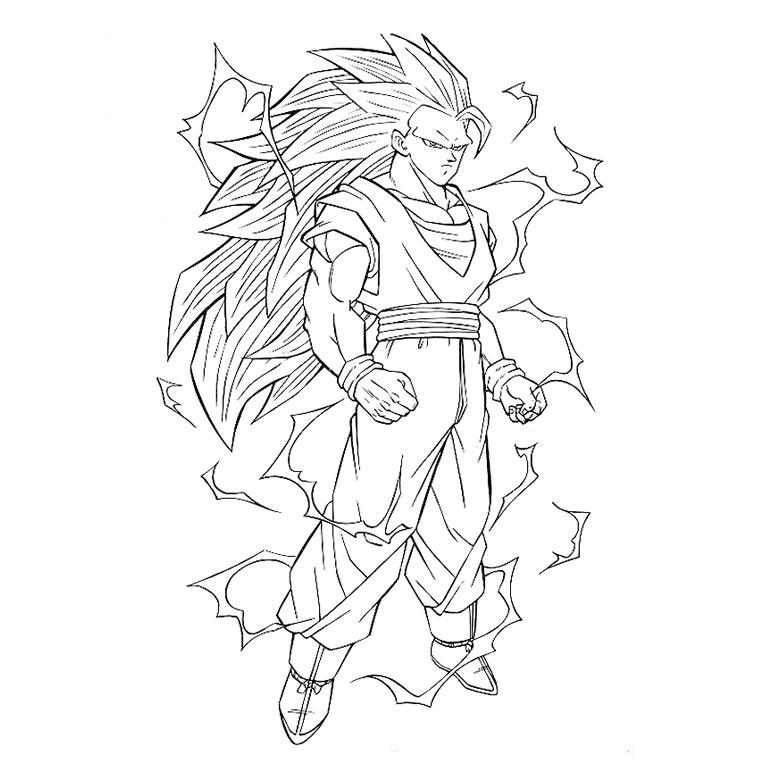 dragon ball z de dessin