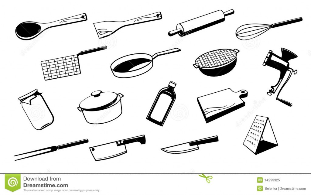 illustration d ustensiles de cuisine 5. Black Bedroom Furniture Sets. Home Design Ideas