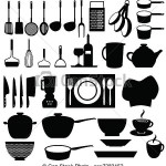 illustration d ustensiles de cuisine