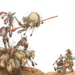 illustration de don quichotte