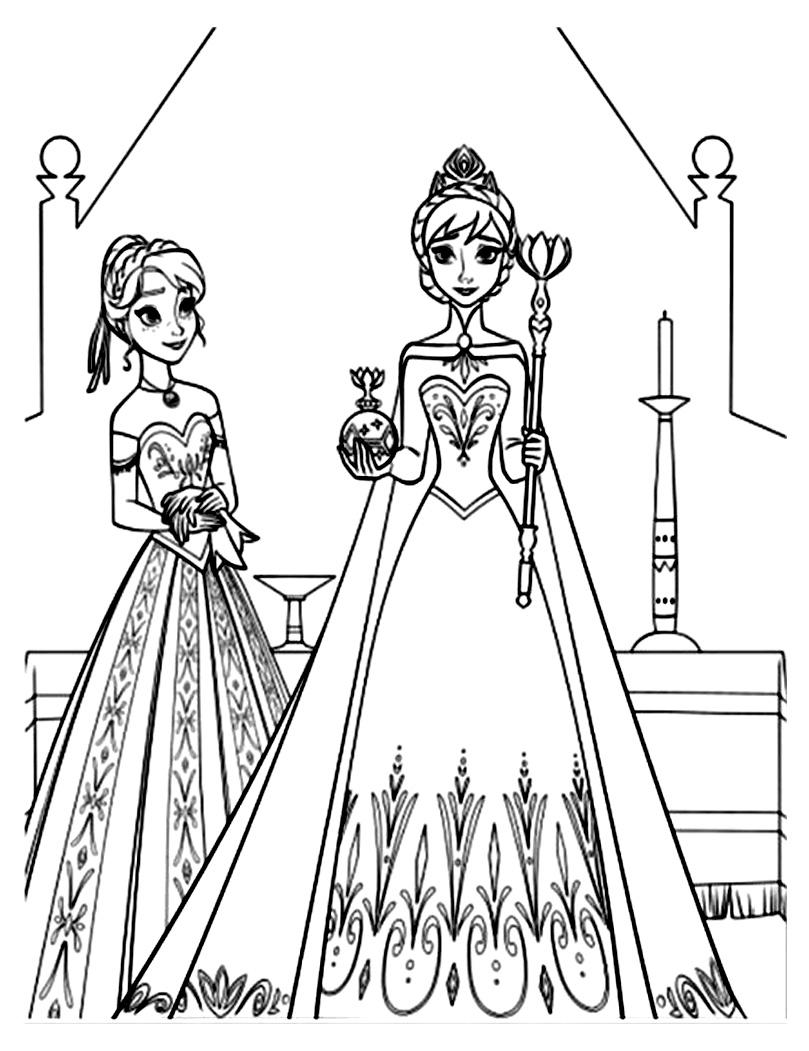 Dessin De Anna Et Elsa