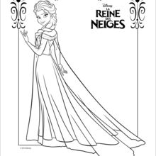 dessin de la reine des neiges
