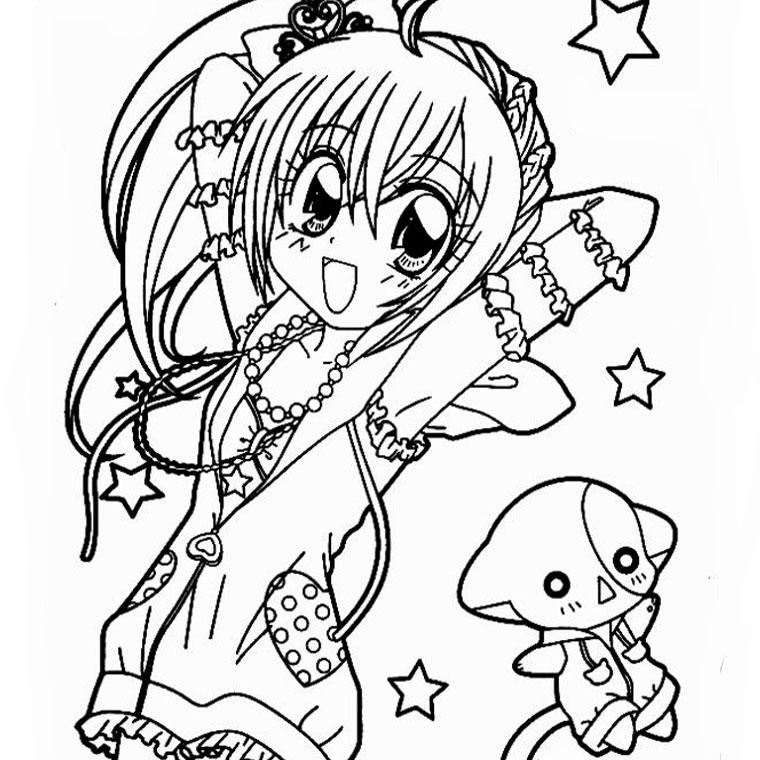 Dessin de manga a imprimer - Coloriage manga difficile ...
