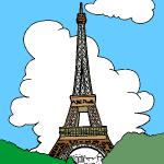 dessin de tour eiffel