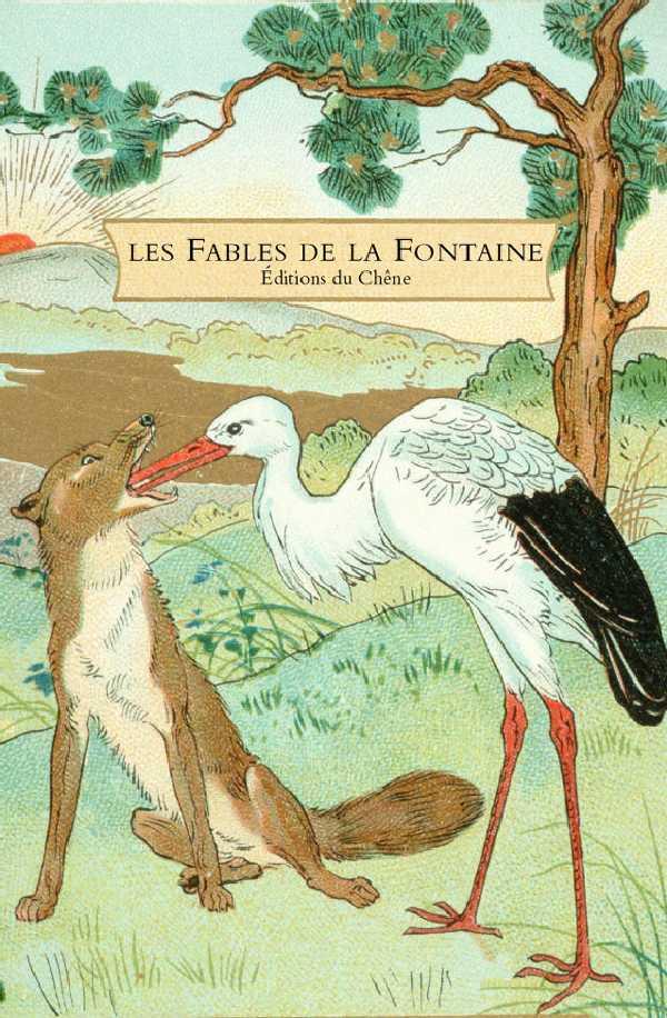 Illustration de fables de la fontaine 8 - Le renard et la cigogne dessin ...