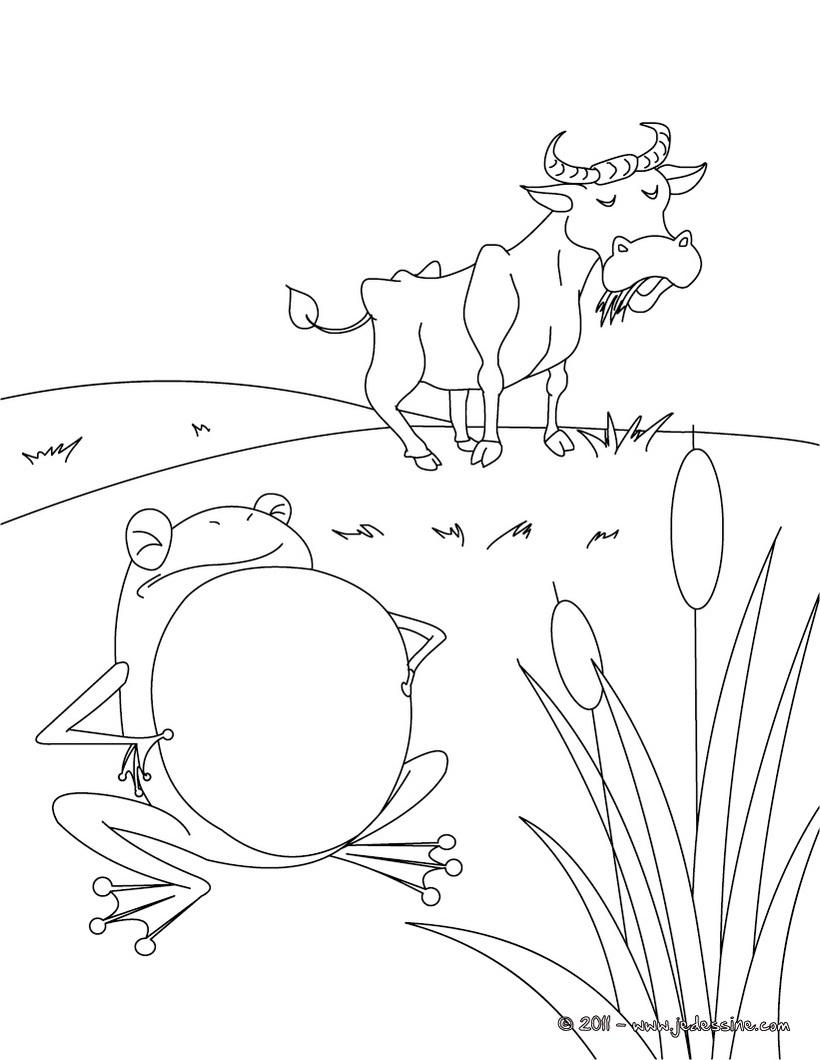 Illustration de la grenouille qui veut se faire aussi - Image la grenouille et le boeuf ...