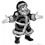 illustration de noel noir et blanc