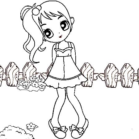 Illustration de petite fille 5 - Coloriage a imprimer pour fille ...