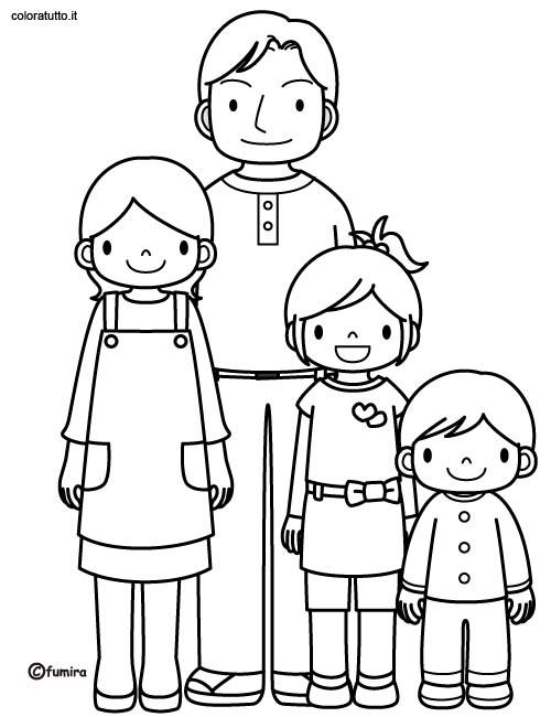 Le dessin de la famille 6 - Coloriage de la famille ...