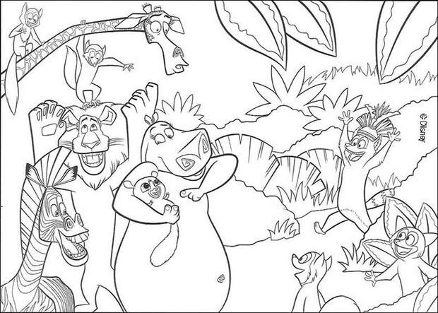 dessin d animaux de la jungle