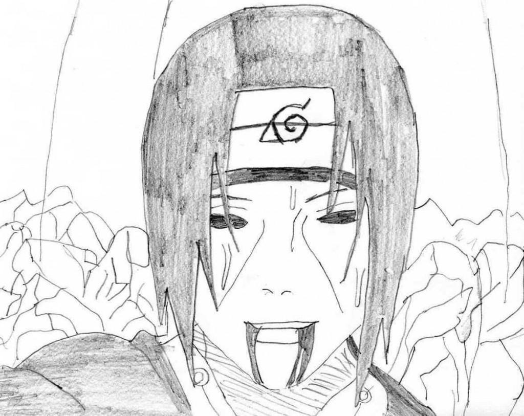 Dessin d itachi 4 - Comment dessiner madara uchiwa ...