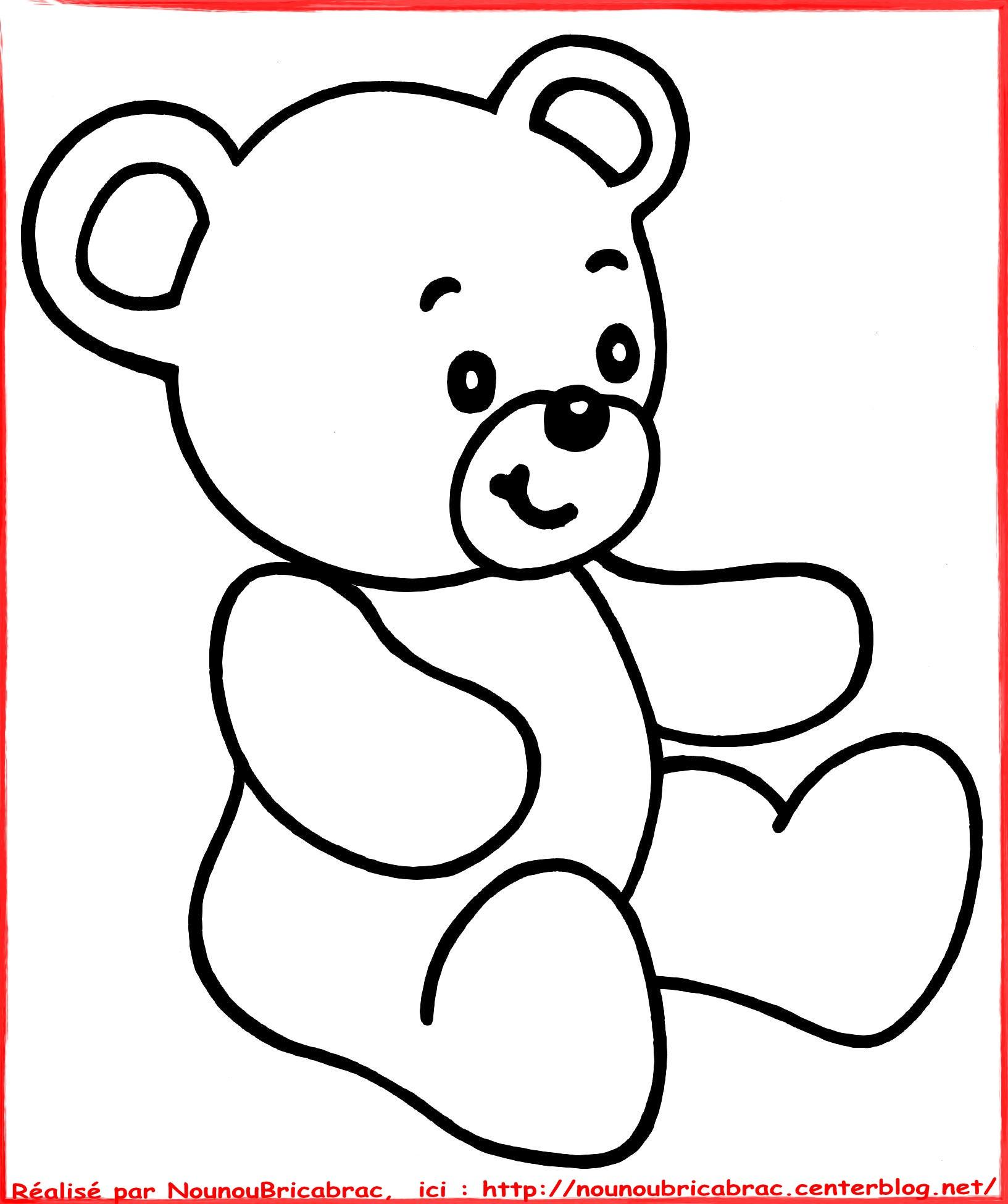 Dessin d ourson 8 - Dessin ourson a imprimer ...