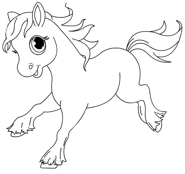 Dessin de cheval 9 - Dessin a colorier cheval ...