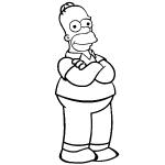 dessin de homer simpson
